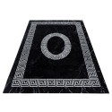 Designer  Jugendzimmer Teppich Versacemotiv Black