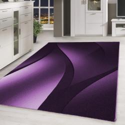 Designer  Jugendzimmer Teppich Wellenmotiv Lila