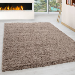 Shaggy pile living room Shaggy carpet pile height 3cm slim fit Beige