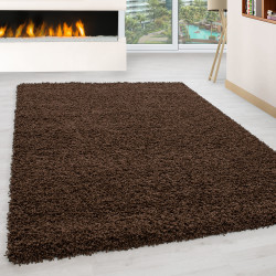 Shaggy pile living room Shaggy carpet pile height 3cm slim fit brown