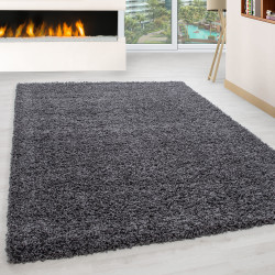Shaggy pile living room Shaggy carpet pile height 3cm slim fit grey