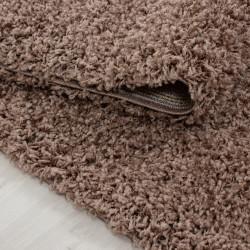 Hochflor Langflor Wohnzimmer Shaggy Teppich Florhöhe 3cm unifarbe Mocca