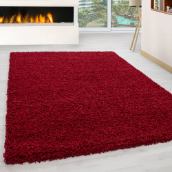 Shaggy pile living room Shaggy carpet pile height 3cm slim fit Red