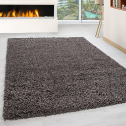Shaggy pile living room Shaggy carpet pile height 3cm slim fit Taupe