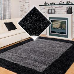 Langflor Hochflor Wohnzimmer Shaggy Teppich 2 Farbig Anthrazit Grau