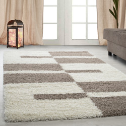 Shaggy pile living room GALA Shaggy carpet pile height 3cm Beige-cream
