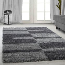 Hoge stapel shaggy woonkamer GALA Shaggy tapijt poolhoogte 3 cm grijs