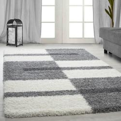 Hoge stapel shaggy woonkamer Shaggy tapijt poolhoogte 3 cm-grijs-Wit-licht grijs