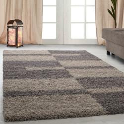 Hoge stapel shaggy woonkamer GALA Shaggy tapijt poolhoogte 3 cm Taupe-Beige