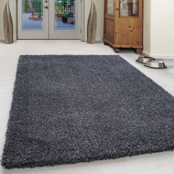 Extreme confortable Coton Shaggy Unifarbe-Anthracite