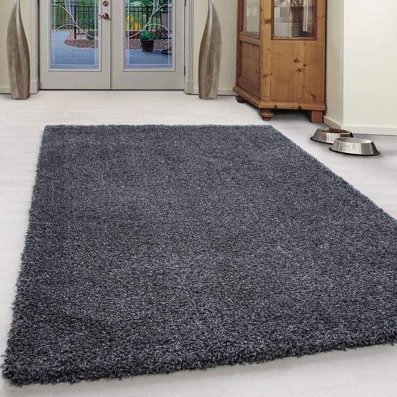 Shaggy Pile Living Room Carpet Slim Fit Anthracite