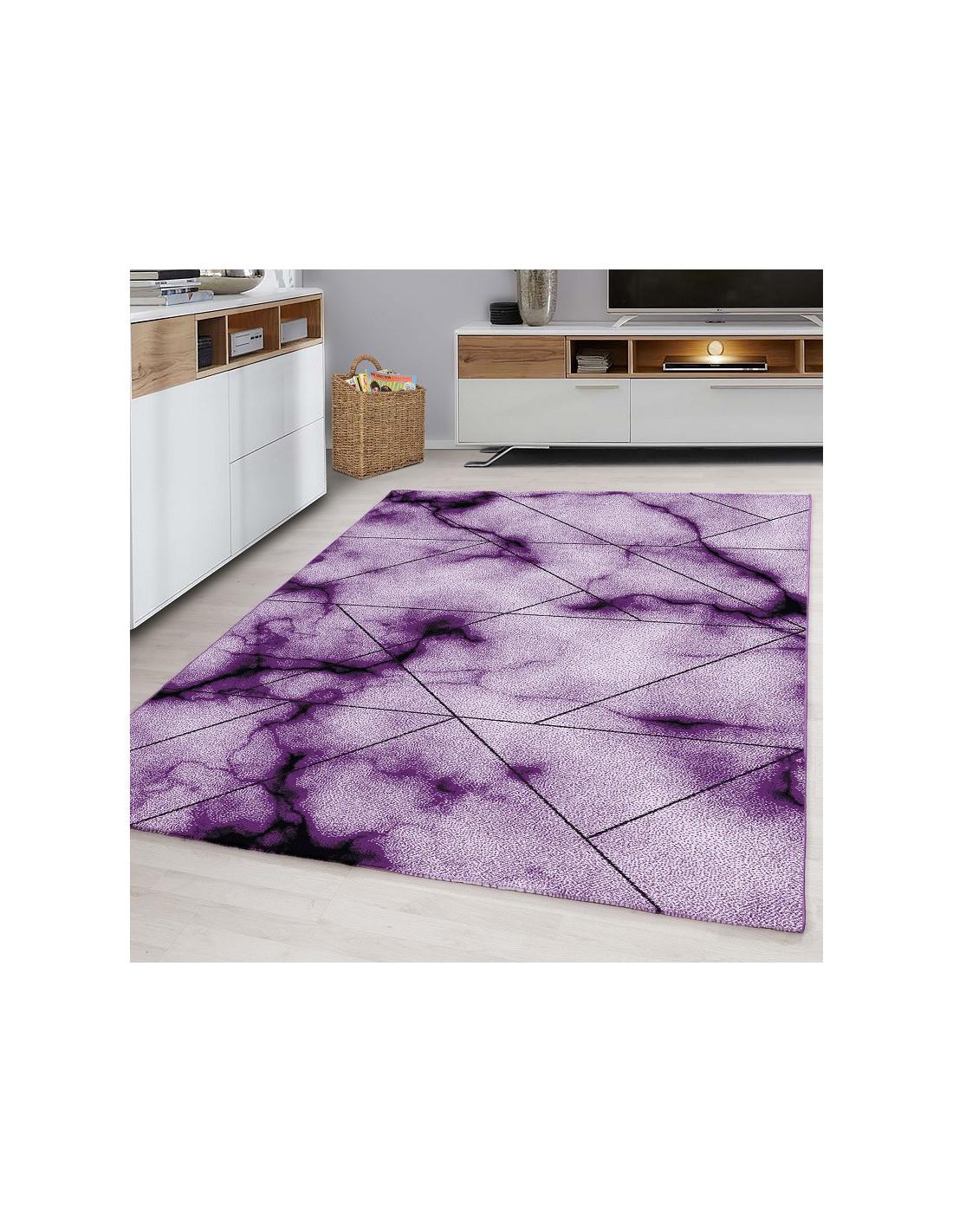 Modern designer living room youth room carpet PARMA 9320 purple