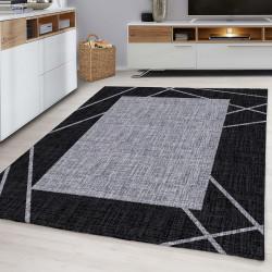Moderne woonkamer, jeugd kamer, tapijt PARMA-Zwart