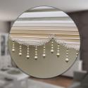 Runde Wohnzimmer Teppich Kurzflor Modern Einfarbig Meliert Uni günstig Versch. Farben