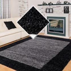 Hochflor Langflor Wohnzimmer Shaggy Teppich 2 Farbig Anthrazit Grau