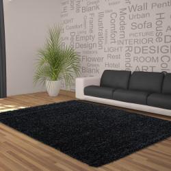 Hochflor Langflor Wohnzimmer Shaggy Teppich Unifarbe Florhöhe 5cm Anthrazit