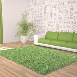 Hochflor Langflor Wohnzimmer DREAM Shaggy Teppich Unifarbe Florhöhe 5cm Grün