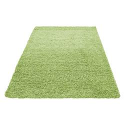 Hoogpolig Hoogpolig Woonkamer Dream Shaggy Vloerkleed Uni Kleur Poolhoogte 5 Cm Groen