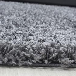 Deep pile long pile living room DREAM Shaggy rug uni color pile height 5cm gray