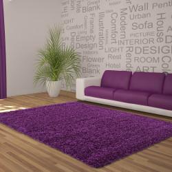 Structure à fibres longues Salon DREAM Shaggy Tapis Unifarbe hauteur de la pile de 5 cm Violet