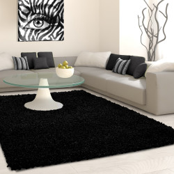 Structure à fibres longues Salon Shaggy Tapis de Parement 3cm unifarbe Anthracite