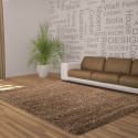 Shaggy pile living room DREAM Shaggy carpet, solid color pile height 5cm Mocca