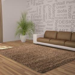 Shaggy stapel woonkamer DROOM Shaggy tapijt, effen kleur stapel hoogte 5cm Choco