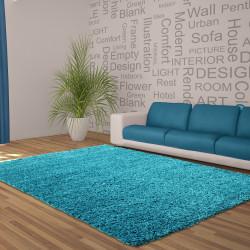 Structure à fibres longues Salon DREAM Shaggy Tapis Unifarbe hauteur de la pile de 5 cm Turquoise