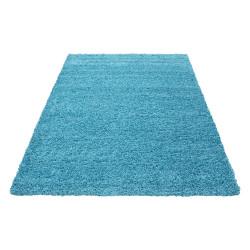 Deep pile long pile living room DREAM Shaggy rug uni color pile height 5cm turquoise