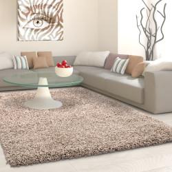 Shaggy stapel woonkamer Shaggy tapijt poolhoogte 3 cm slim fit Beige