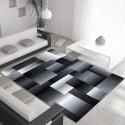 Moderner Designer Wohnzimmer Teppich Miami 6560 Schwarz