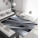Modern Designer Living Room Carpet, Parma 9210 Black