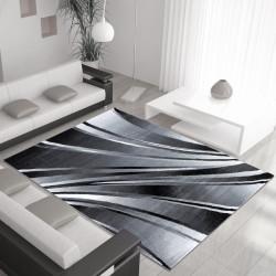 Moderner Designer Wohnzimmer Teppich Parma 9210 Schwarz