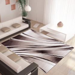 Moderner Designer Wohnzimmer Teppich Parma 9210 Braun