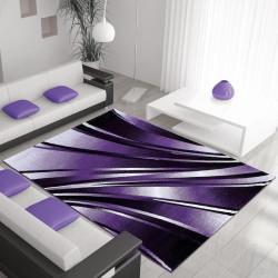 Moderner Designer Wohnzimmer Teppich Parma 9210 Lila