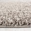 Shaggy pile living room Shaggy carpet pile height 3cm slim fit Beige