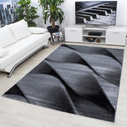 Modern Designer Living Room Carpet, Parma 9240 Black
