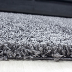 Shaggy carpet, pile height 3cm, plain gray