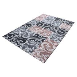 Modern designer glitter living room rug Toscana 3130 Pink
