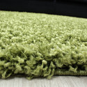 Shaggy pile living room rug, Shaggy pile height 3cm slim fit Green
