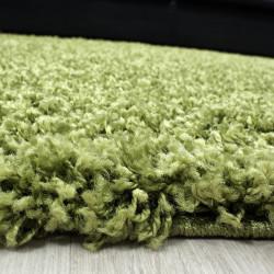 Hochflor Langflor Wohnzimmer Teppich Shaggy Florhöhe 3cm unifarbe Grün