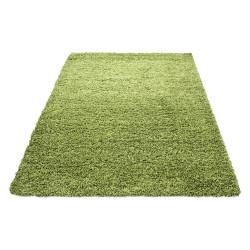 Shaggy pile height 3cm plain green