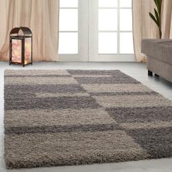 Hochflor Langflor Wohnzimmer GALA Shaggy Teppich Florhöhe 3cm Taupe-Beige