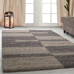 Shaggy pile living room GALA Shaggy carpet pile height 3cm Taupe-Beige