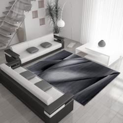 Modern designer living room rug Miami 6590 black