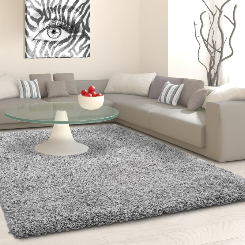 Shaggy pile living room Shaggy carpet pile height 3cm slim fit light grey