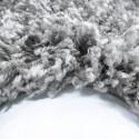 Structure à fibres longues Salon Shaggy Tapis de Parement 3cm unifarbe Gris clair
