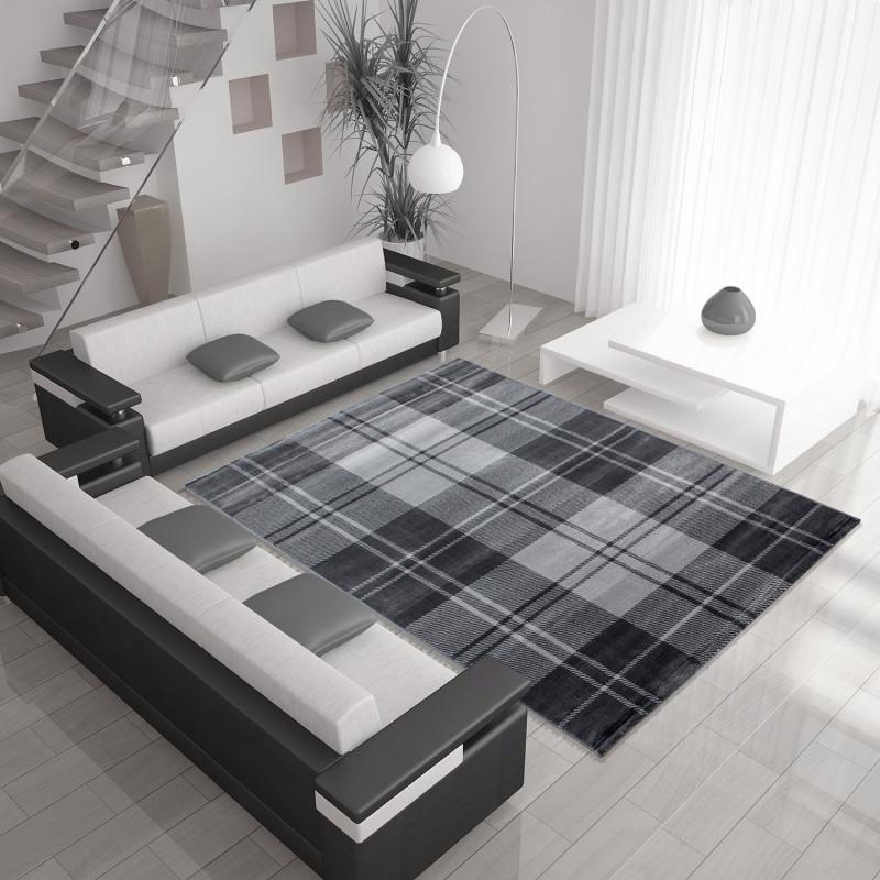 Modern Designer living room carpet MIAMI 6610 GRAY
