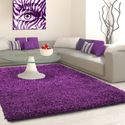 Structure à fibres longues Salon Shaggy Tapis de Parement 3cm unifarbe Violet
