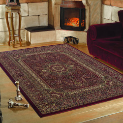 Classic oriental living room rug Marrakesh 0207 red